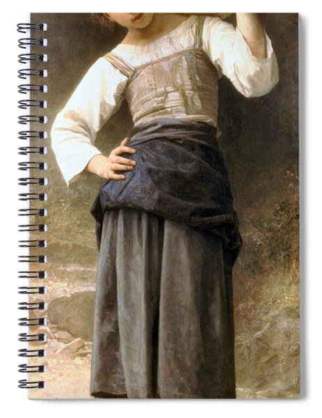 Young Girl Going To The Fountain Spiral Notebook