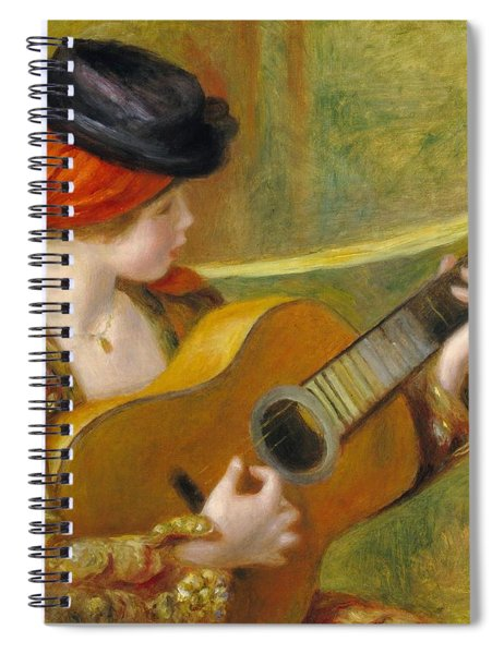 Young Spanish Woman With A Guitar Spiral Notebook