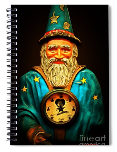 Your Fortune Be Told By The Wizard Fortune Telling Machine 7d144 Spiral Notebook