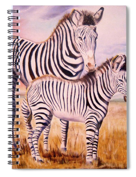Zebra And Foal Spiral Notebook