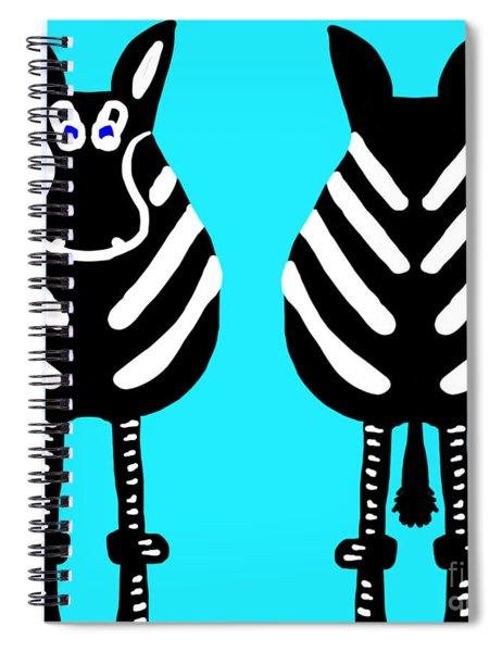 Zebra - Both Ends Spiral Notebook