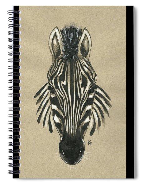 Zebra Front Spiral Notebook