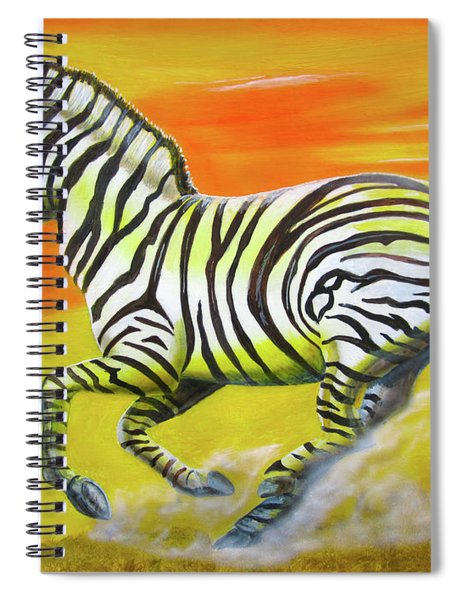 Zebra Kicking Up Dust Spiral Notebook