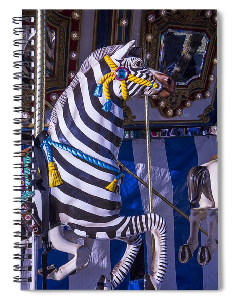 Zebra Merry-go-round Spiral Notebook