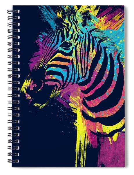 Zebra Splatters Spiral Notebook
