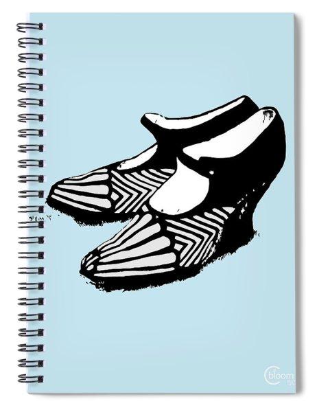 Zeldas Party 1920 Flapper Shoes...robins Egg Blue Spiral Notebook