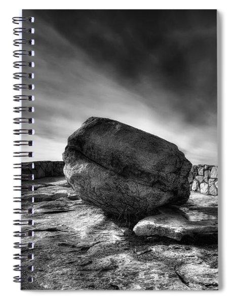 Zen Black White Spiral Notebook