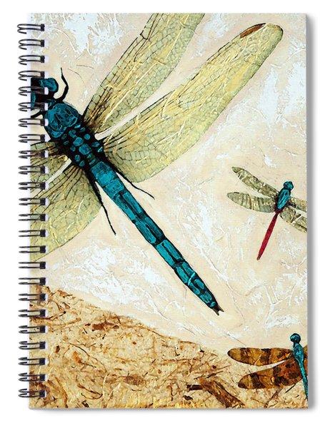 Zen Flight - Dragonfly Art By Sharon Cummings Spiral Notebook