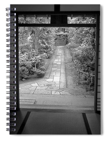 Zen Garden Walkway Spiral Notebook
