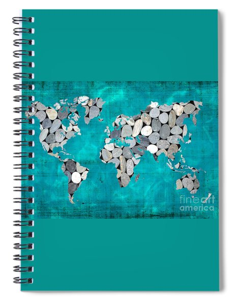 Zen World Map Spiral Notebook