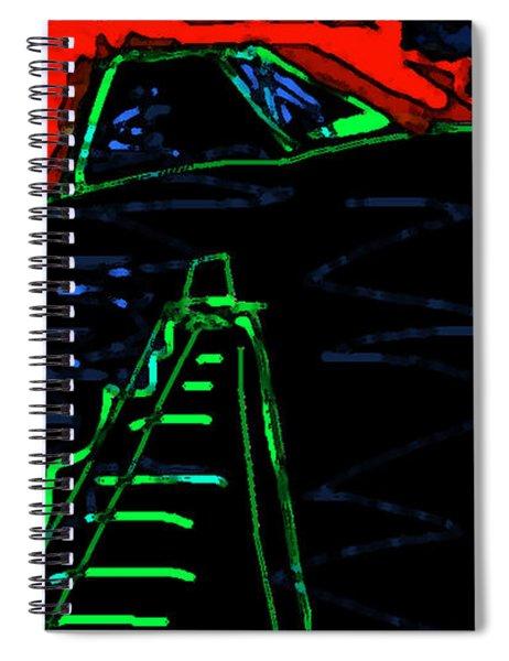 Ziggurat Nites Spiral Notebook