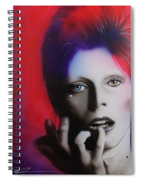 Ziggy Stardust Spiral Notebook