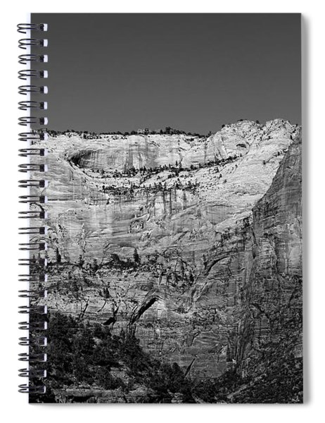 Zion Cliff And Arch B W Spiral Notebook