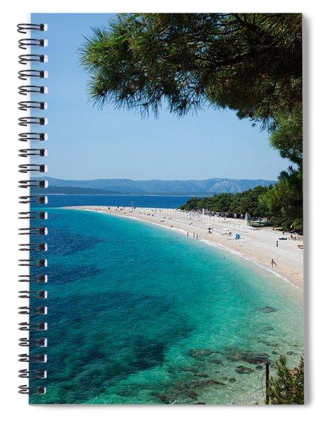 Zlatni Rat Beach With Hvar Island Spiral Notebook