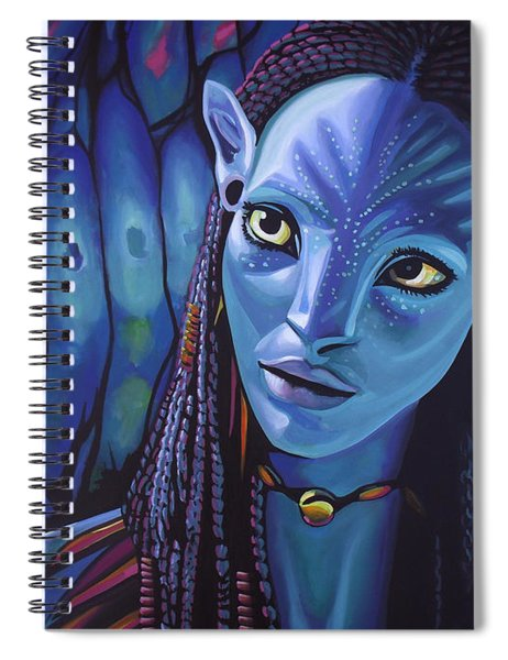 Zoe Saldana As Neytiri In Avatar Spiral Notebook