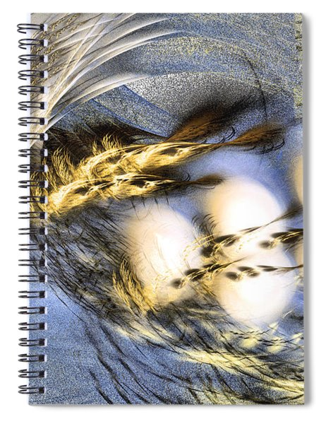 Promise Me Spring Will Come - Abstract Art Spiral Notebook