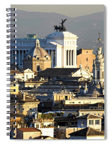 Rome's Rooftops Spiral Notebook
