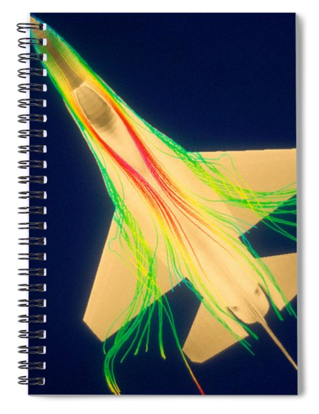 Air Flow Over F-16 Jet Fighter Spiral Notebook