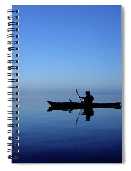 Spiral Notebook featuring the photograph Serenity Surrounds by Lorraine Devon Wilke