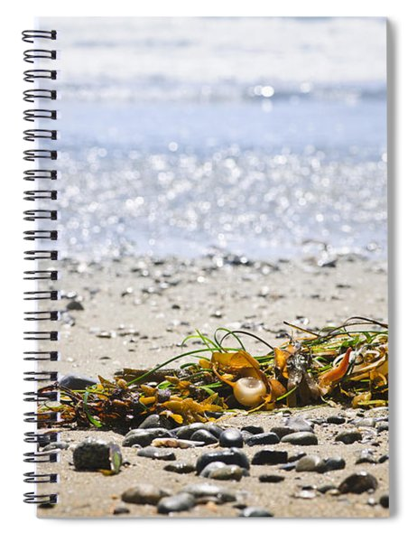 Beach Detail On Pacific Ocean Coast Spiral Notebook