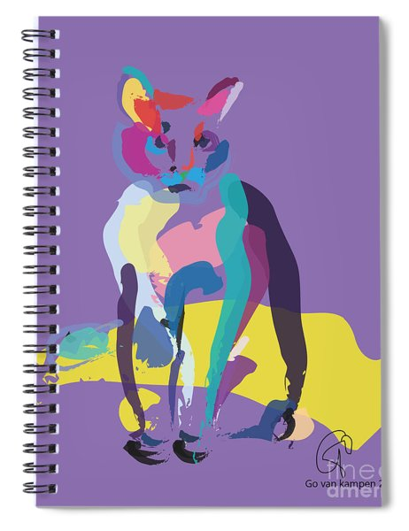 Cat In Colour Spiral Notebook