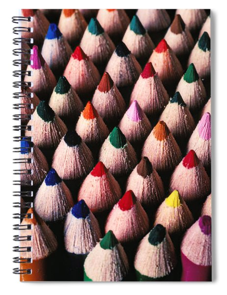 Colored Pencils Spiral Notebook
