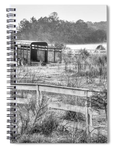 Coosaw - Horse Trailer In The Fog Spiral Notebook