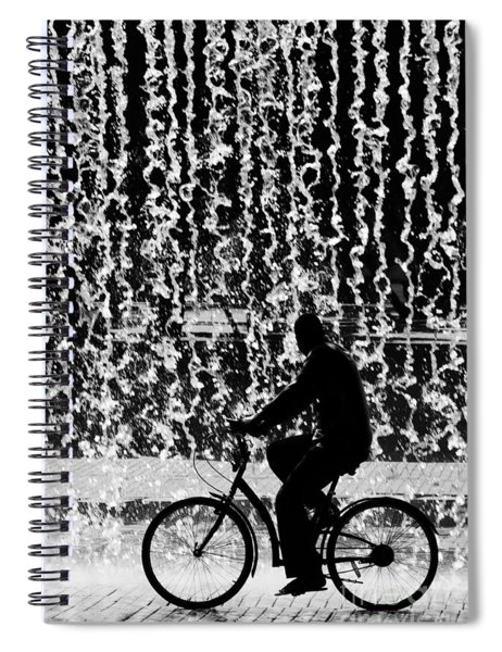 Cycling Silhouette Spiral Notebook