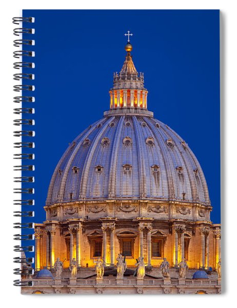 Dome San Pietro Spiral Notebook by Brian Jannsen