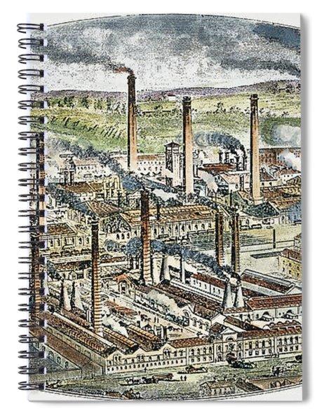 Factories: England, C1850 Spiral Notebook