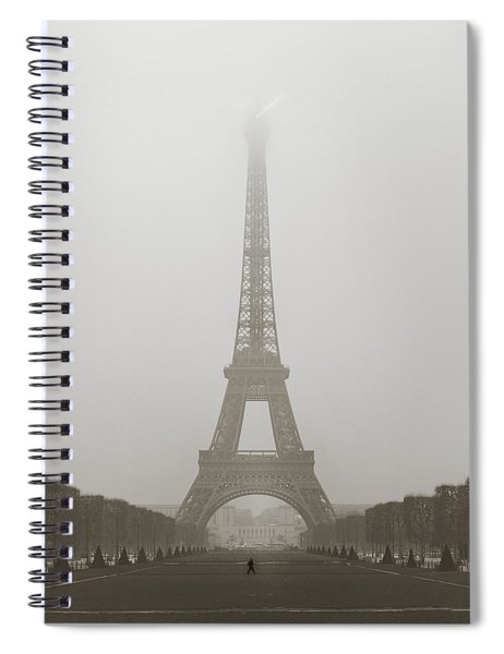 Foggy Morning In Paris Spiral Notebook