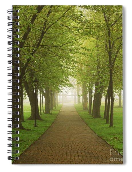 Foggy Park Spiral Notebook