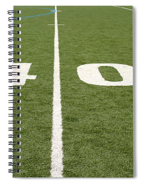 Football Field Forty Spiral Notebook