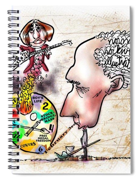 Happy Birthday Norman Rockwell Spiral Notebook