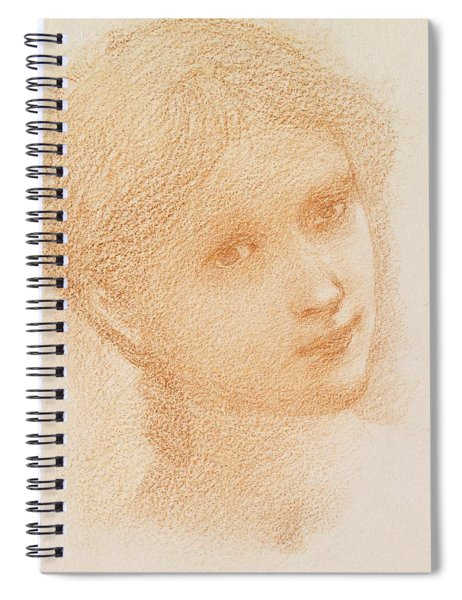 Head Study Of A Girl Spiral Notebook