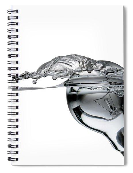 Light Bulb And Splash Water Spiral Notebook