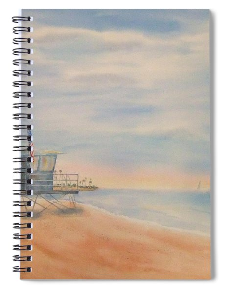 Morning By The Beach Spiral Notebook