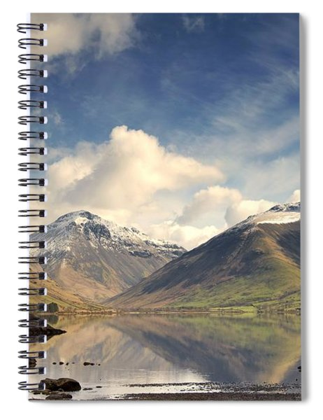 Mountains And Lake At Lake District Spiral Notebook