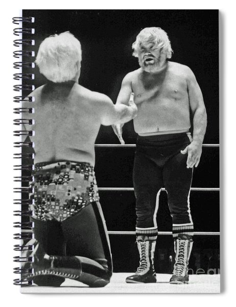 Old School Wrestling From The Cow Palace With Moondog Mayne Spiral Notebook