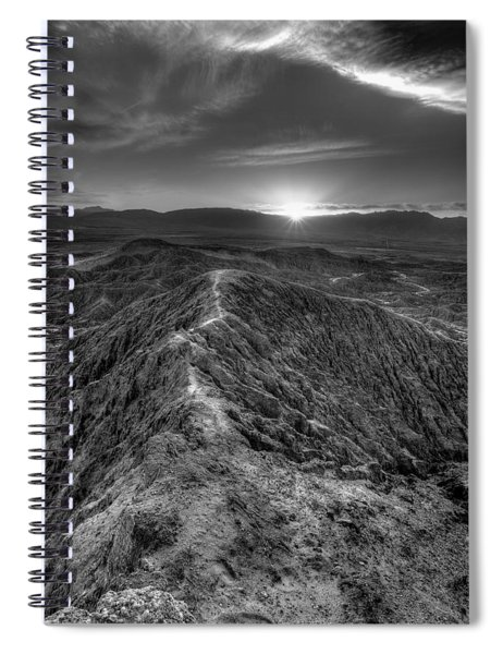 Path To The Sun   Black And White Spiral Notebook