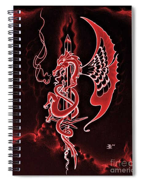 Red Dragon Sword II Spiral Notebook