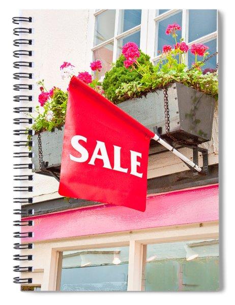 Sale Sign Spiral Notebook