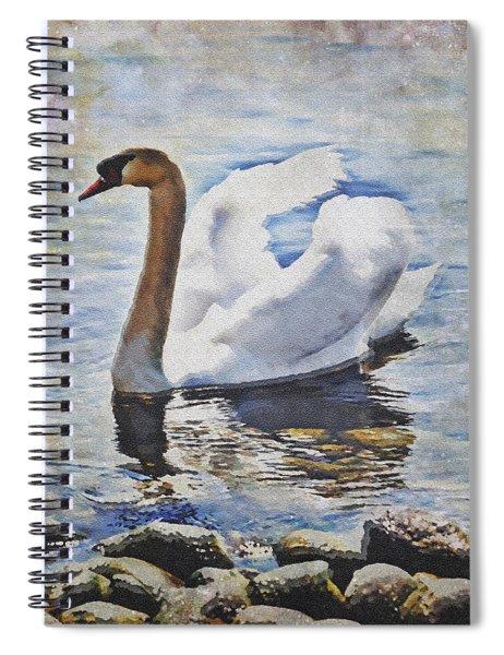 Swan Spiral Notebook