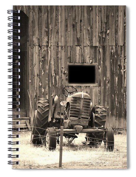 Tractor And The Barn Spiral Notebook