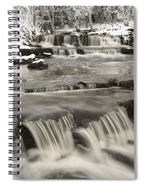 Waterfalls With Fresh Snow Thunder Bay Spiral Notebook