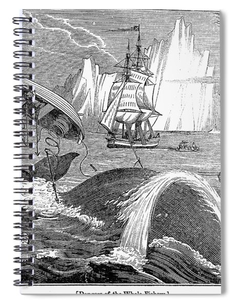 Whaling, 1833 Spiral Notebook
