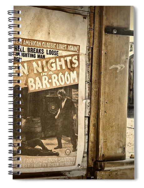 10 Nights In A Bar Room Spiral Notebook