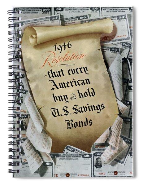 1946 Resolution  Spiral Notebook