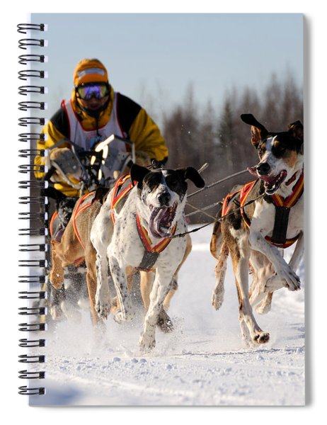 2011 Limited North American Sled Dog Race Spiral Notebook