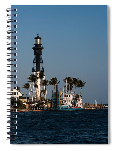 Spiral Notebook featuring the photograph Hillsboro Inlet Lighthouse by Ed Gleichman